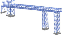 Flyover for belt conveyors
